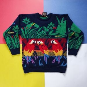 RARE Vintage Maban of Scotland Toucan Heavy-Knit
